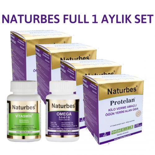 NATURBES FULL SET (4 KUTU PROTELAN+ VITASMIN + OMEGA 30)