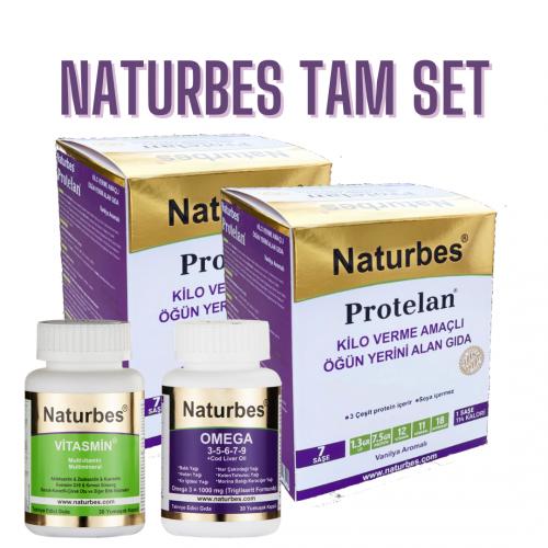 Naturbes Tam Set (2 Kutu Protelan+ Vitasmin ve Omega 30)